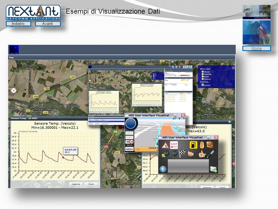 Esempi di Visualizzazione Dati Indietro Avanti Home
