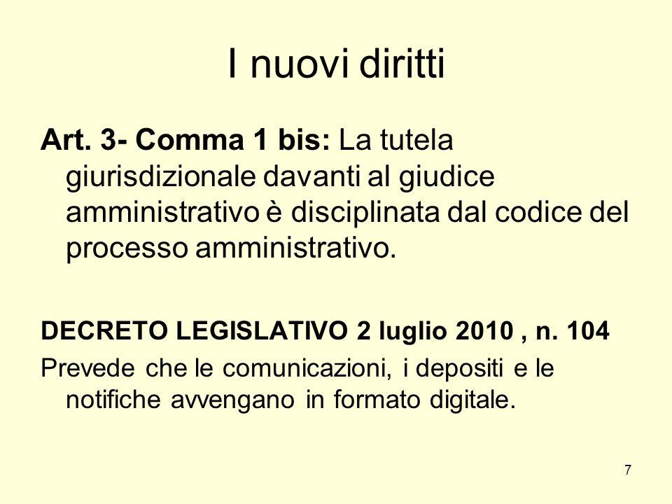 7 I nuovi diritti Art.