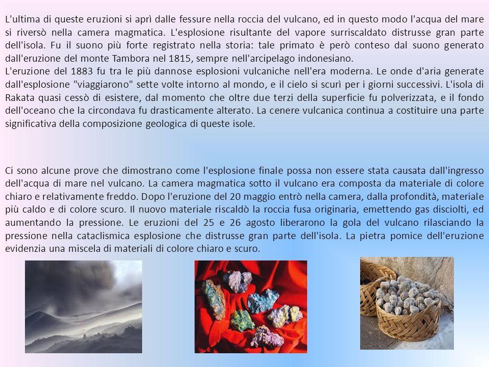 Ci sono alcune prove che dimostrano come l esplosione finale possa non essere stata causata dall ingresso dell acqua di mare nel vulcano.