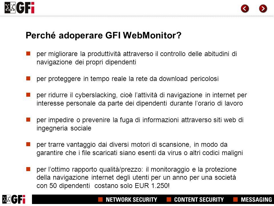 Perché adoperare GFI WebMonitor.