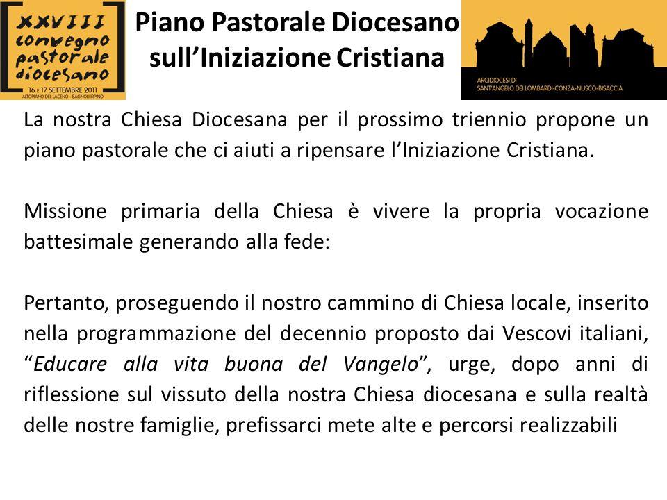 La nostra Chiesa Diocesana per il prossimo triennio propone un piano pastorale che ci aiuti a ripensare lIniziazione Cristiana.
