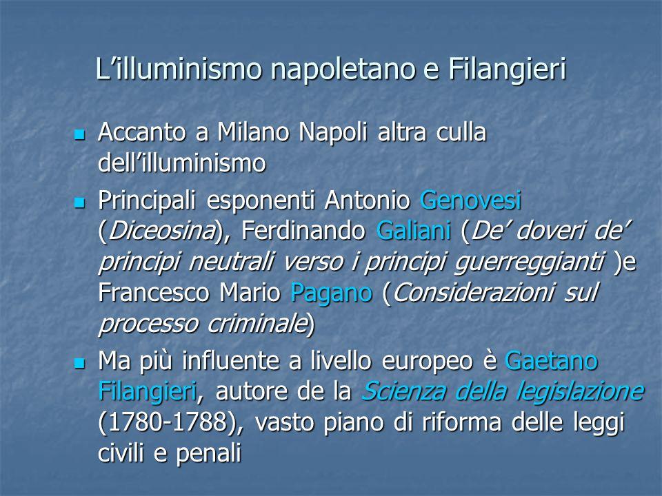 Lilluminismo napoletano e Filangieri Accanto a Milano Napoli altra culla dellilluminismo Accanto a Milano Napoli altra culla dellilluminismo Principal
