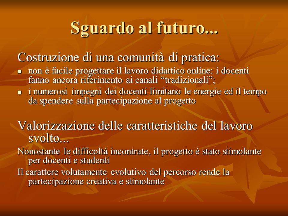 Sguardo al futuro...