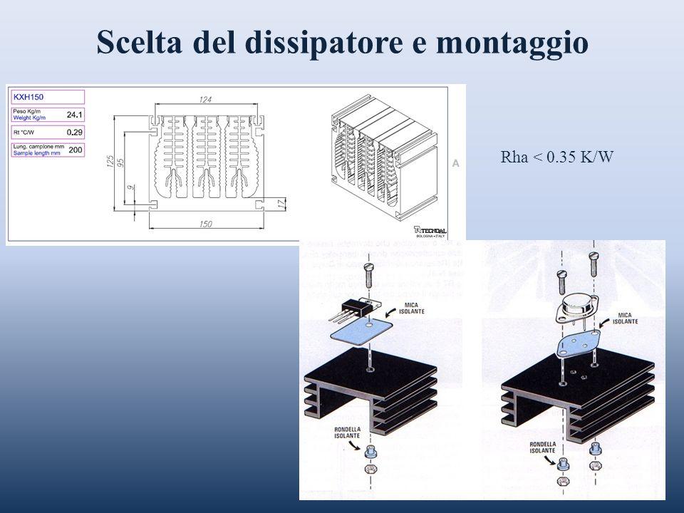 Scelta del dissipatore e montaggio Rha < 0.35 K/W