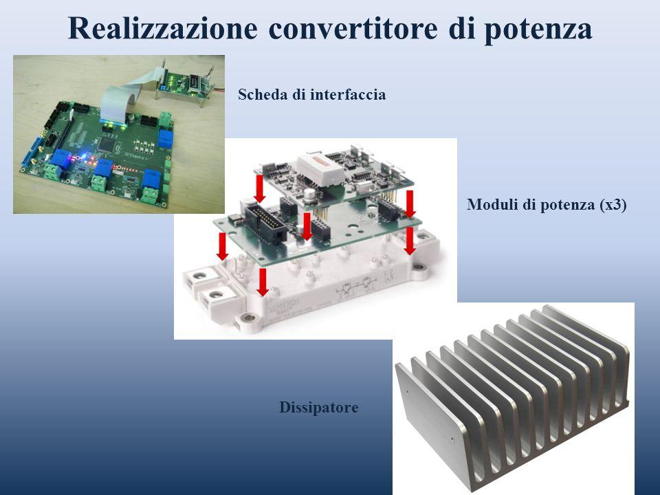Realizzazione convertitore di potenza Moduli di potenza (x3) Scheda di interfaccia Dissipatore