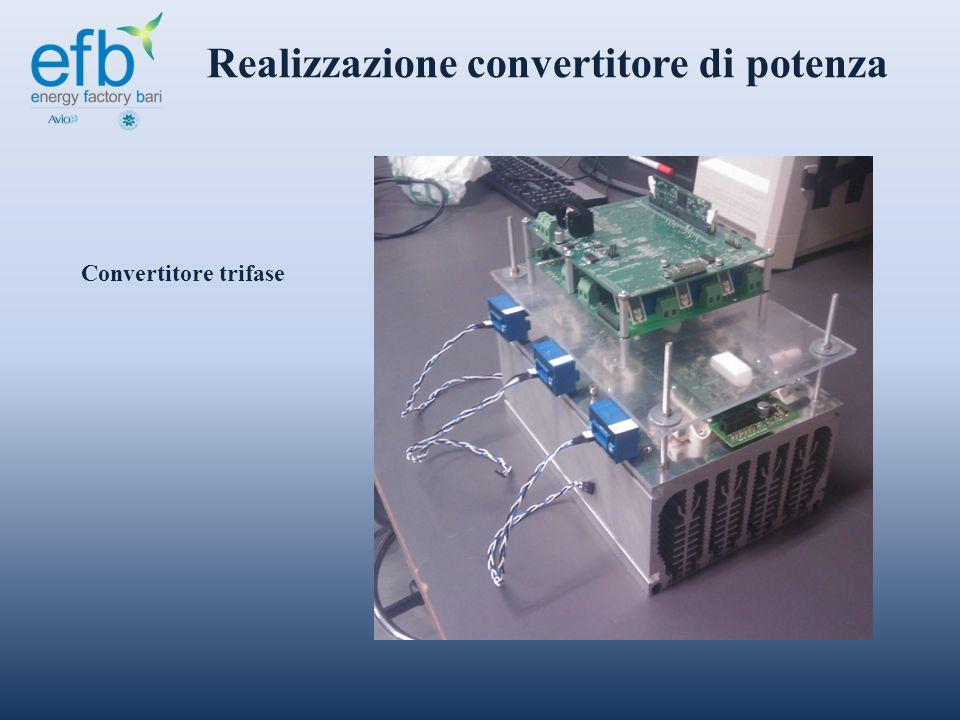 Realizzazione convertitore di potenza Convertitore trifase