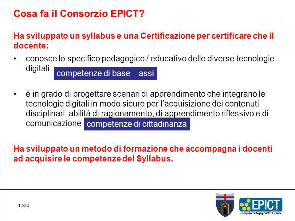 Cosa fa il Consorzio EPICT.