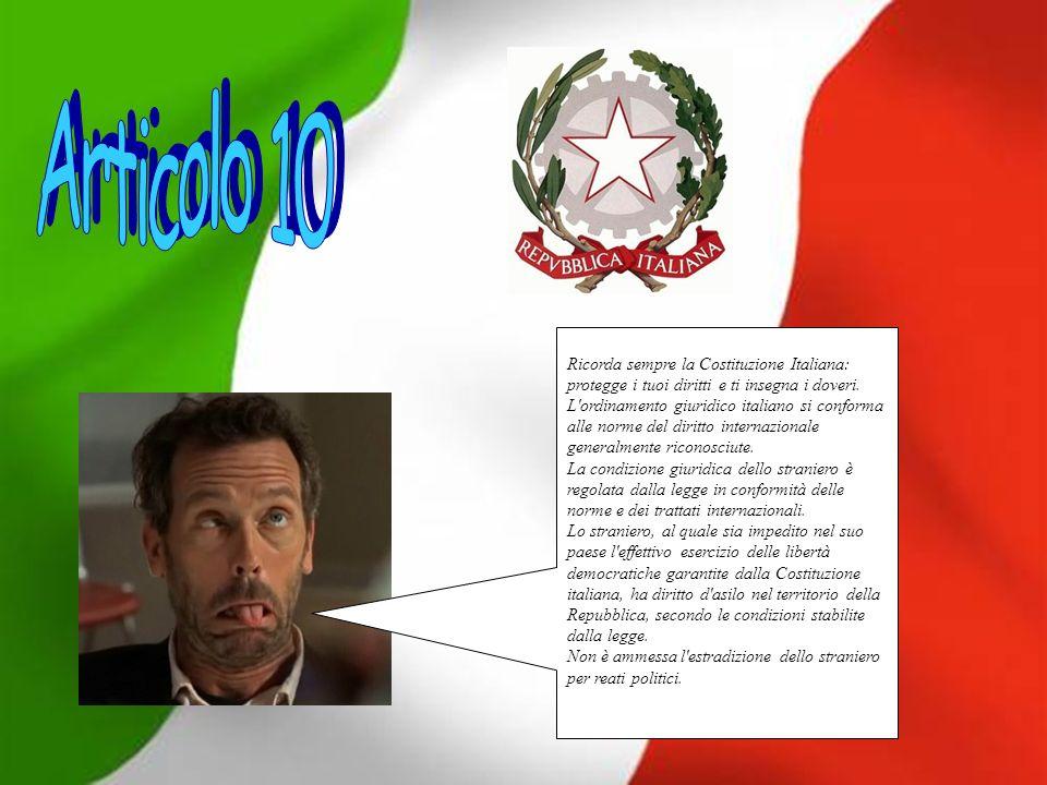 Ricorda sempre la Costituzione Italiana: protegge i tuoi diritti e ti insegna i doveri.