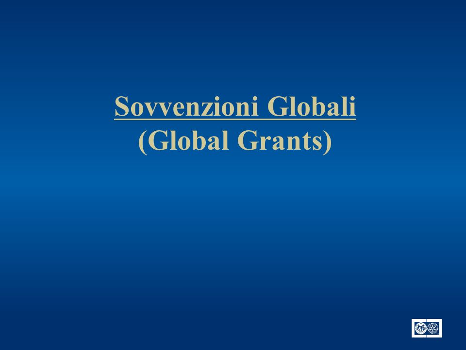 Sovvenzioni Globali (Global Grants)