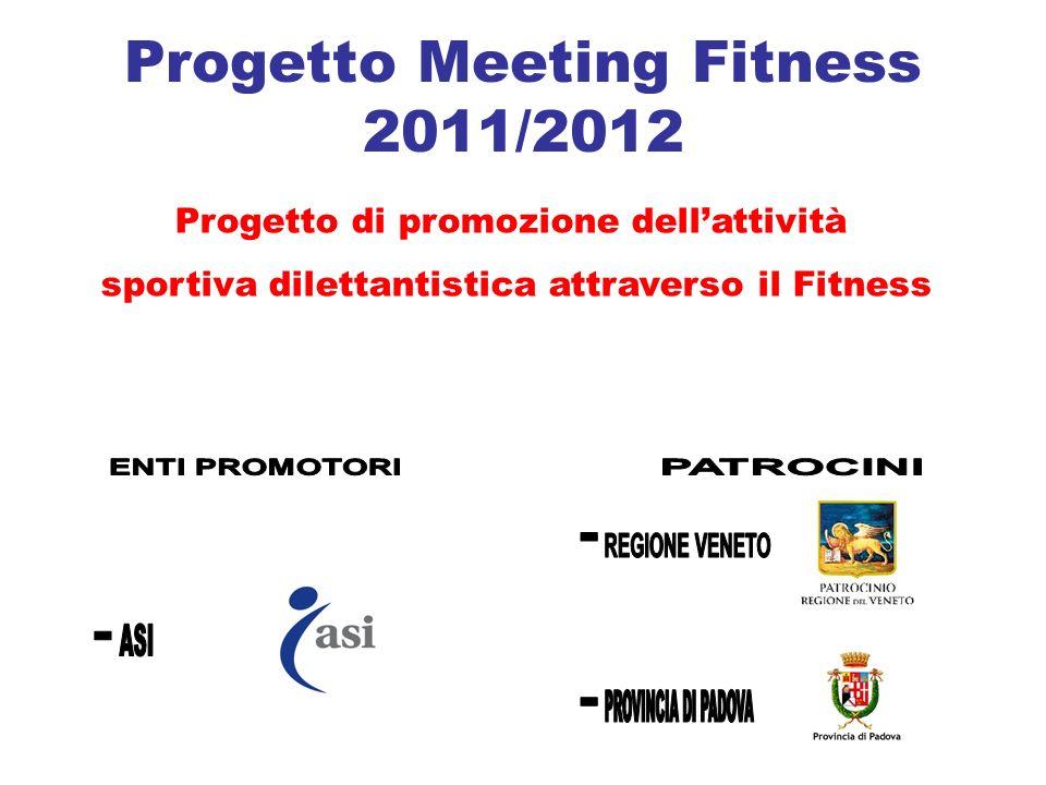 Progetto Meeting Fitness 2011/2012 Progetto di promozione dellattività sportiva dilettantistica attraverso il Fitness