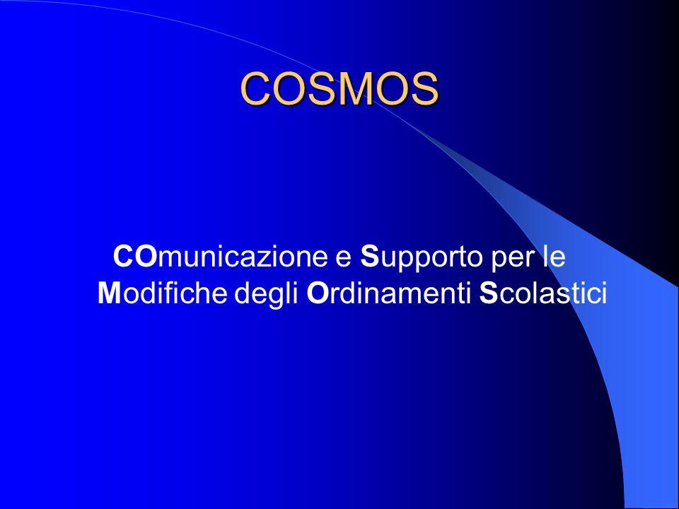 COSMOS COmunicazione e Supporto per le Modifiche degli Ordinamenti Scolastici