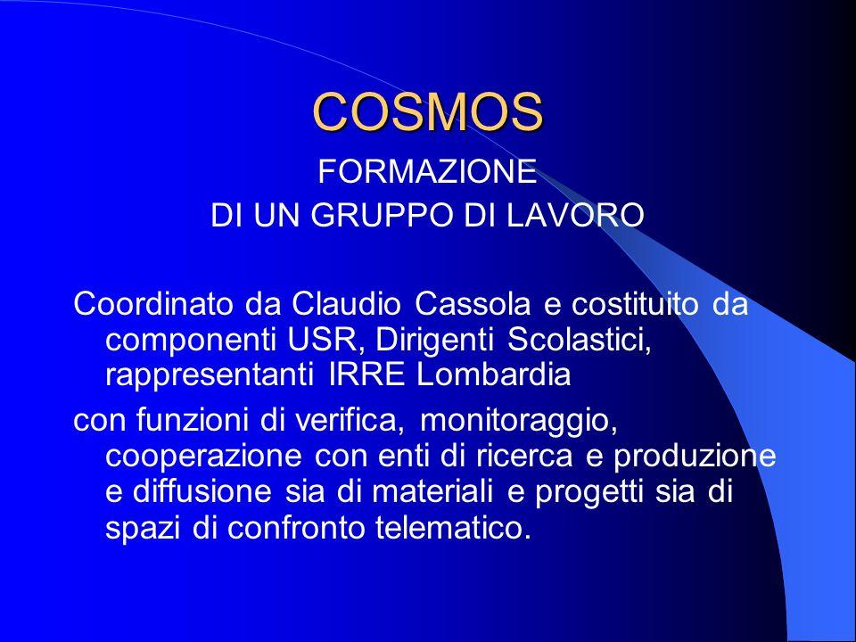 COSMOS - azioni Diffusione di materiale informativo proveniente dal MIUR e prodotto dallUSR Lombardia Realizzazione di spot pubblicitari sulle televisioni e radio locali