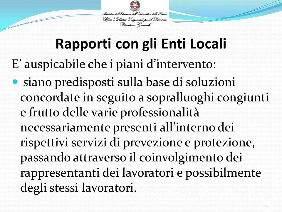 Rapporti con gli Enti Locali Il D.M. 382/98 allart.