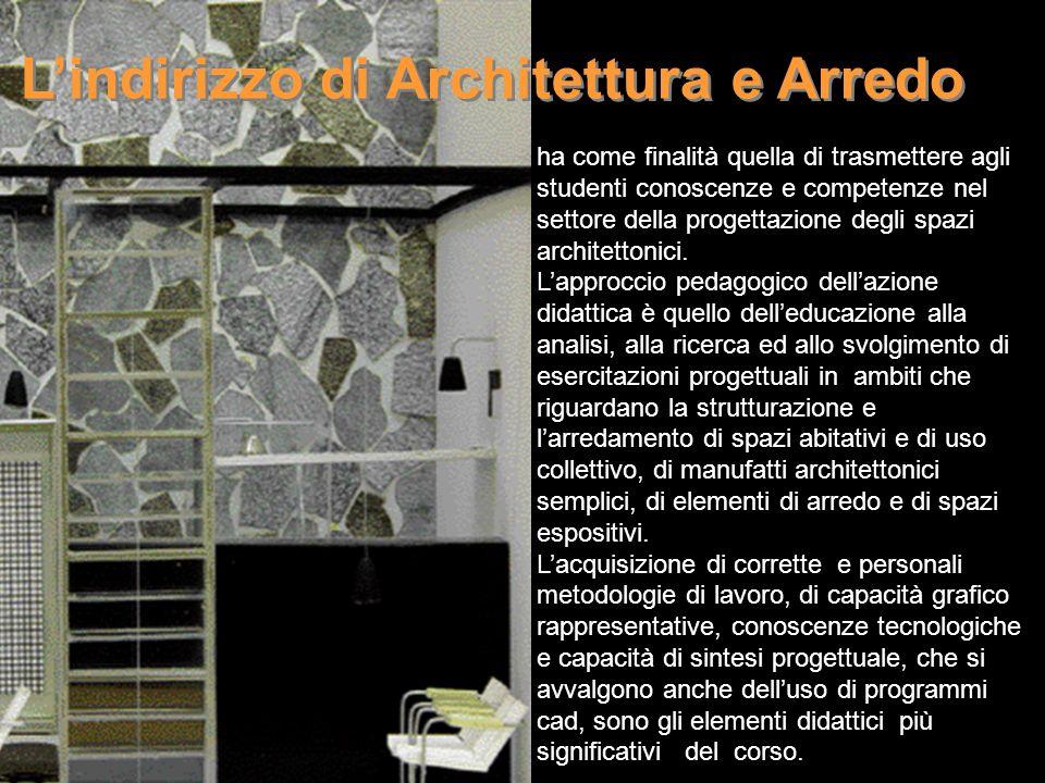 ha come finalità quella di trasmettere agli studenti conoscenze e competenze nel settore della progettazione degli spazi architettonici. Lapproccio pe