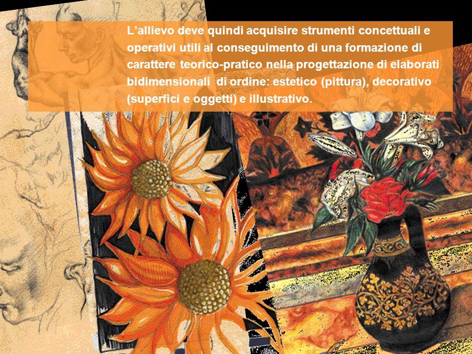 Lallievo deve quindi acquisire strumenti concettuali e operativi utili al conseguimento di una formazione di carattere teorico-pratico nella progettaz