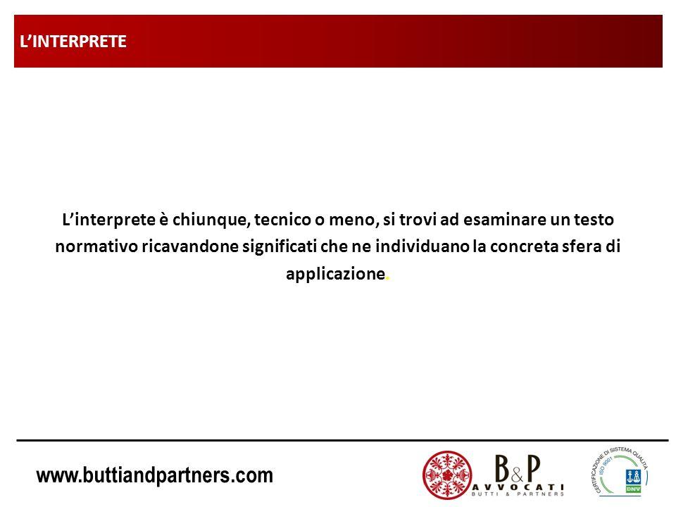 www.buttiandpartners.com INTERPRETAZIONE AUTENTICA (esempi): materiali di riporto Decreto Legge n° 1 del 24/01/2012 Art.