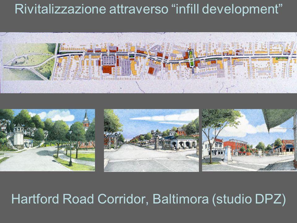 Rivitalizzazione attraverso infill development Hartford Road Corridor, Baltimora (studio DPZ)