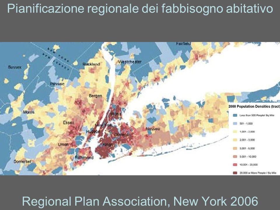 Pianificazione regionale dei fabbisogno abitativo Regional Plan Association, New York 2006