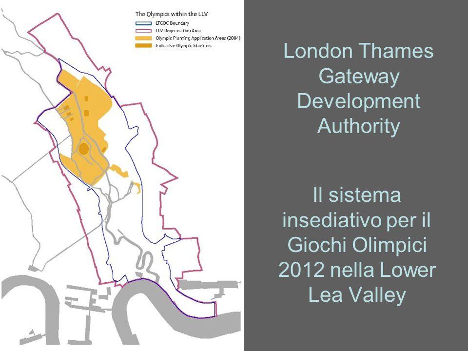 London Thames Gateway Development Authority Il sistema insediativo per il Giochi Olimpici 2012 nella Lower Lea Valley