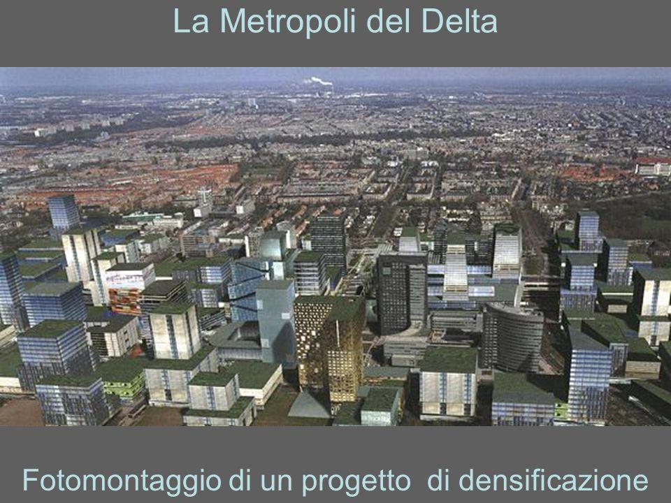 La Metropoli del Delta Fotomontaggio di un progetto di densificazione
