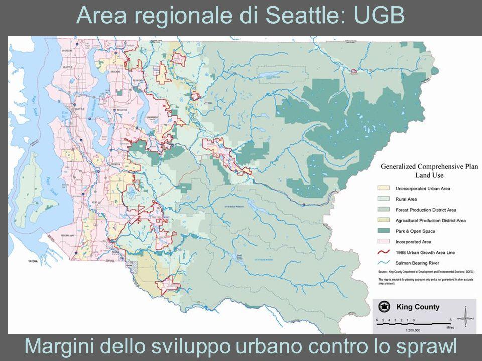 Area regionale di Seattle: UGB Margini dello sviluppo urbano contro lo sprawl