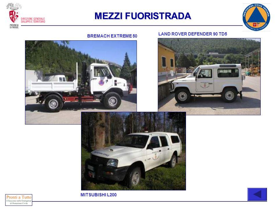 Immediatamente attivabili COMPOSIZIONE BREMACH EXTREME 50 LAND ROVER DEFENDER 90 TD5 MITSUBISHI L200 MEZZI FUORISTRADA