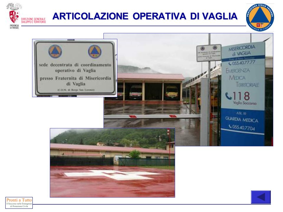 Immediatamente attivabili COMPOSIZIONE ARTICOLAZIONE OPERATIVA DI VAGLIA
