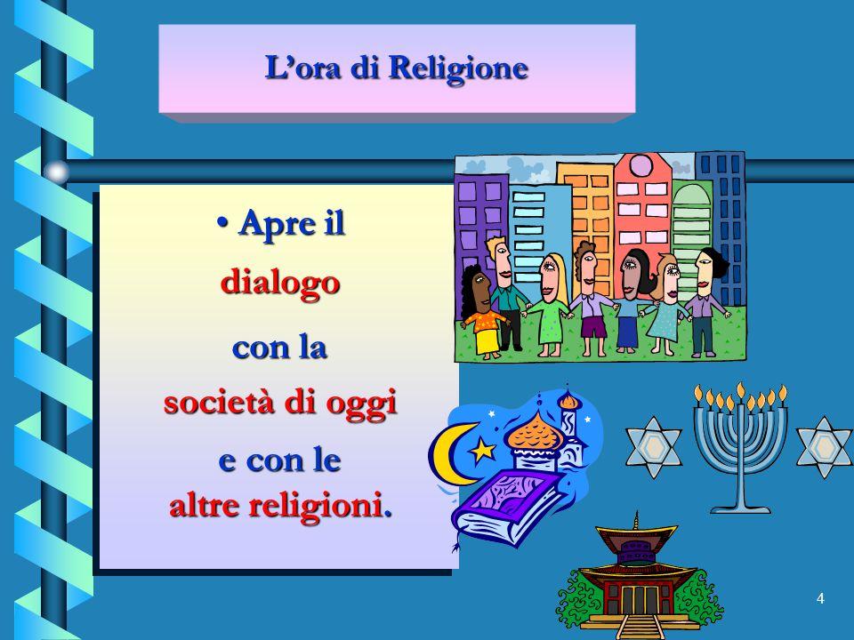 15 LA GRANDE NOVITA DELLORA DI RELIGIONE LA GRANDE NOVITA DELLORA DI RELIGIONE Lora di religione si è già attrezzata per essere una disciplina inserita a pieno titolo nella scuola dellautonomia.
