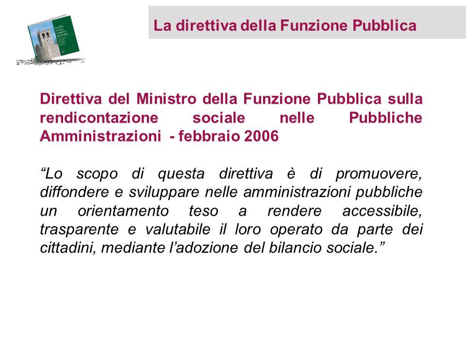 La direttiva della Funzione Pubblica Direttiva del Ministro della Funzione Pubblica sulla rendicontazione sociale nelle Pubbliche Amministrazioni - fe