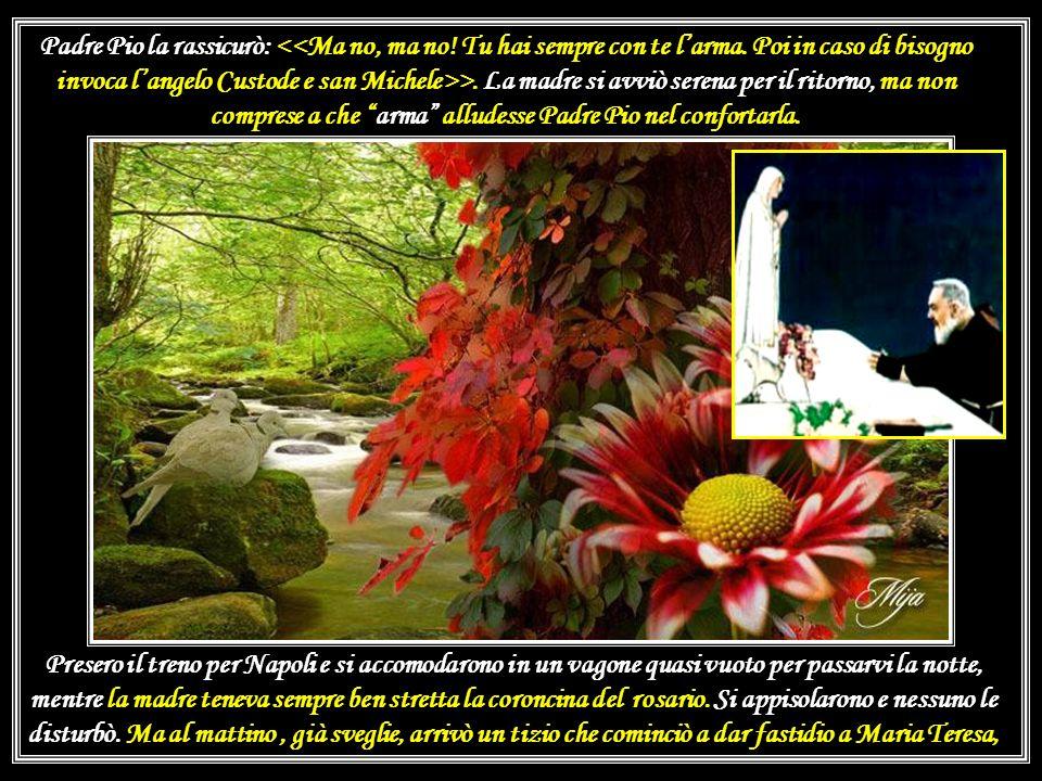Dellaiuto che può dare la corona del rosario, nei momenti di pericolo ne ha fatto esperienza Concetta Tomasi di Nicosia di Vittoria (RG) che con la fi
