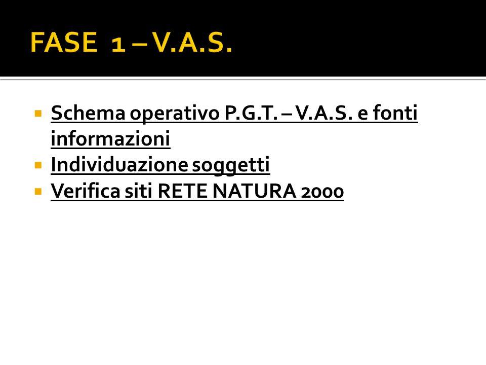 Schema operativo P.G.T. – V.A.S.
