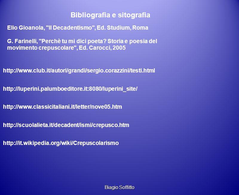 Bibliografia e sitografia Elio Gioanola,