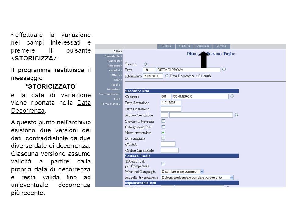 Altri dati (opzionali) Tipo di paga: scegliere tra: MENSILIZZATA/ORARIA.