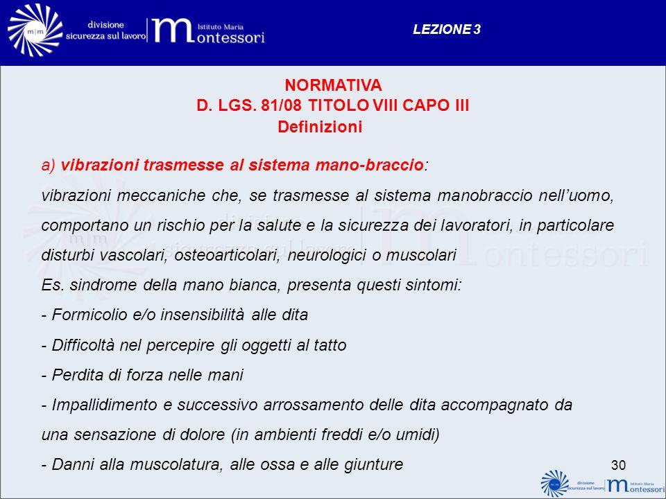 Definizioni NORMATIVA D.LGS.