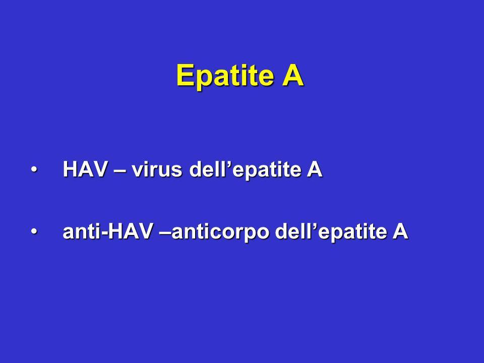 Epatite B HBV –virus dellepatite BHBV –virus dellepatite B HBsAg-antigene di superficie del virus dellepatite BHBsAg-antigene di superficie del virus dellepatite B HBcAg-antigene del coredel virus dellepatite BHBcAg-antigene del coredel virus dellepatite B HBeAg-antigene e del virus dellepatite BHBeAg-antigene e del virus dellepatite B anti-HBs-anticorpo anti-antigene di superficie del virus dellepatite Banti-HBs-anticorpo anti-antigene di superficie del virus dellepatite B anti-HBc –anticorpo anti-antigene del core del virus dellepatite Banti-HBc –anticorpo anti-antigene del core del virus dellepatite B anti-Hbe –anticorpo anti-antigene e del virus dellepatite Banti-Hbe –anticorpo anti-antigene e del virus dellepatite B