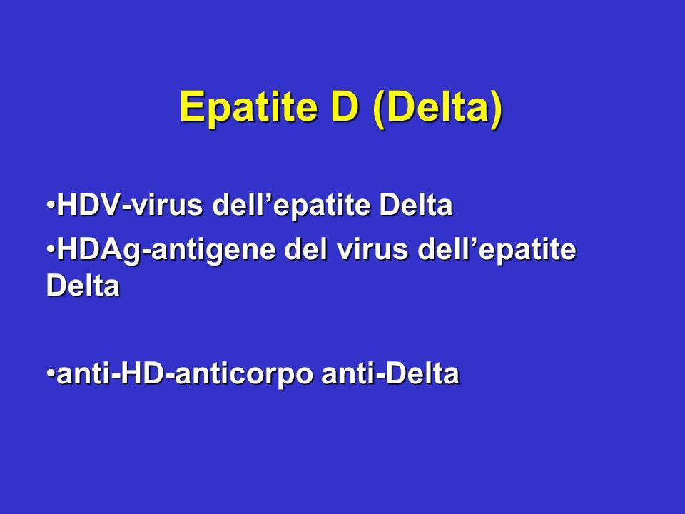 Epatite D (Delta) HDV-virus dellepatite DeltaHDV-virus dellepatite Delta HDAg-antigene del virus dellepatite DeltaHDAg-antigene del virus dellepatite