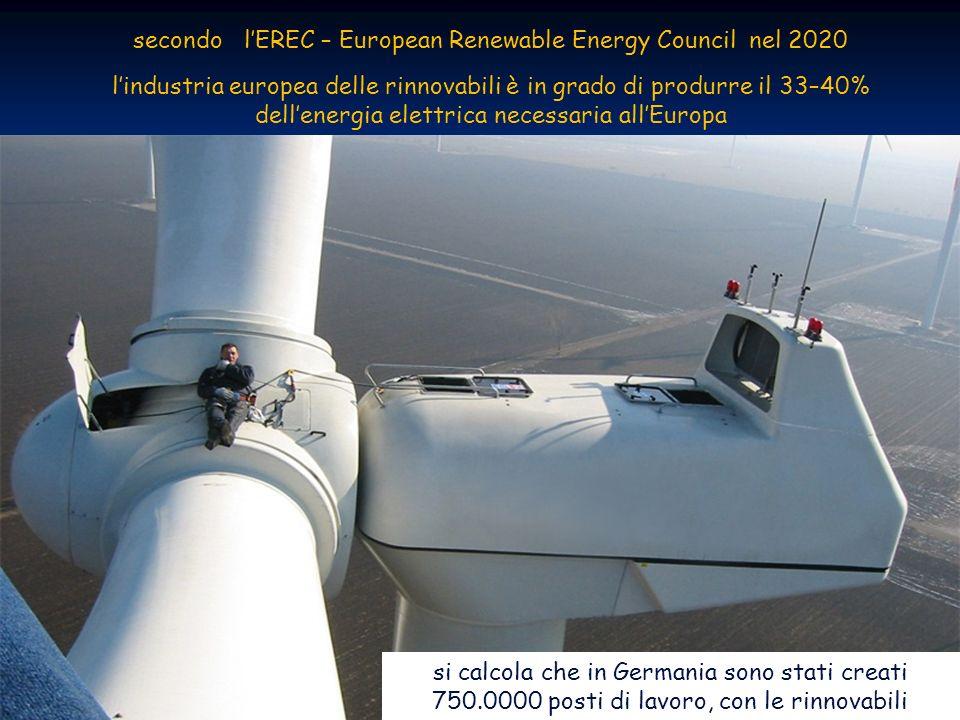 Energia dal vento 39 ENEA - educarsi al futuro secondo lEREC – European Renewable Energy Council nel 2020 lindustria europea delle rinnovabili è in grado di produrre il 33–40% dellenergia elettrica necessaria allEuropa si calcola che in Germania sono stati creati 750.0000 posti di lavoro, con le rinnovabili