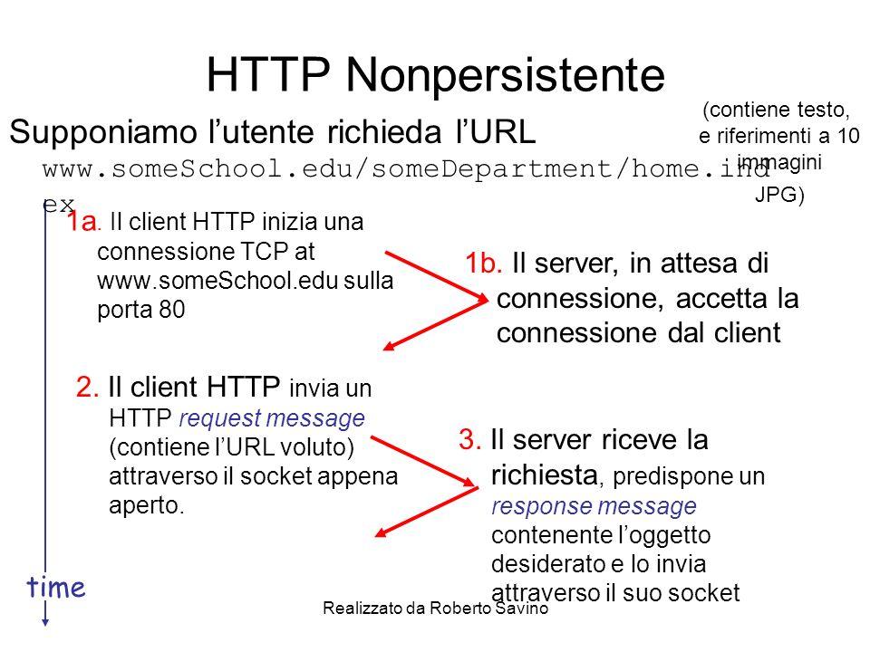 Realizzato da Roberto Savino HTTP Nonpersistente (2) 5.