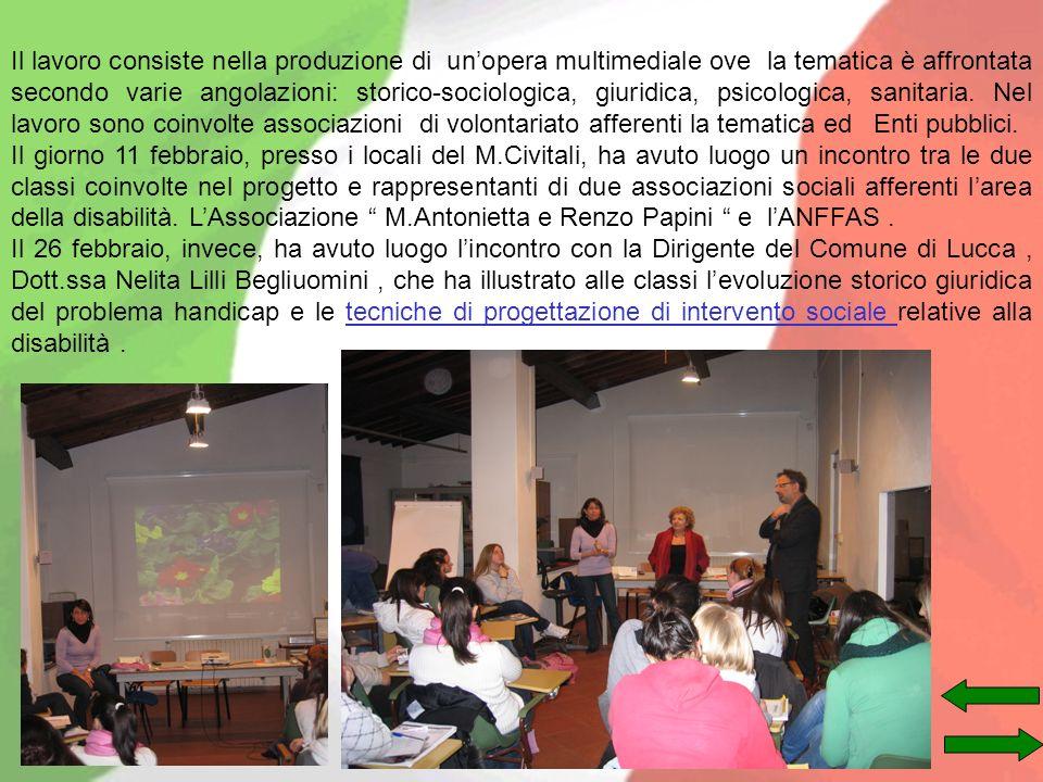 Il lavoro consiste nella produzione di unopera multimediale ove la tematica è affrontata secondo varie angolazioni: storico-sociologica, giuridica, ps
