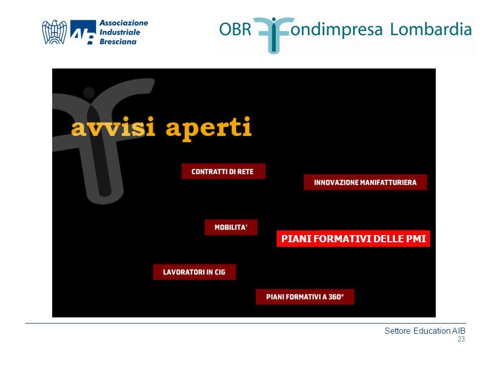 Settore Education AIB www.aib.bs.it PIANI FORMATIVI DELLE PMI 23