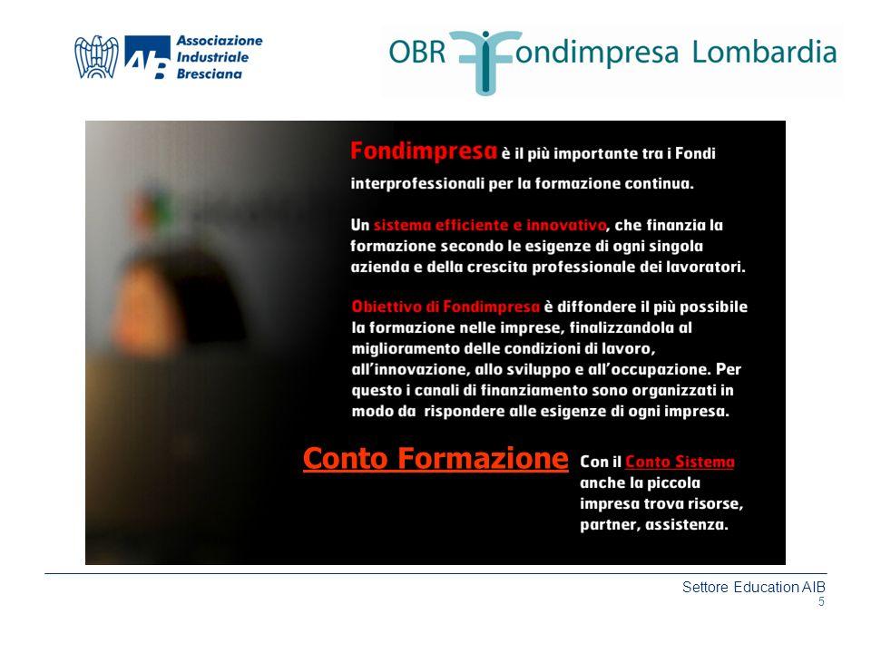 Settore Education AIB www.aib.bs.it Conto Formazione 5