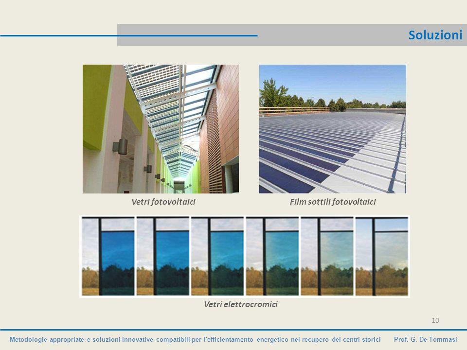 Metodologie appropriate e soluzioni innovative compatibili per l'efficientamento energetico nel recupero dei centri storici Prof. G. De Tommasi Soluzi
