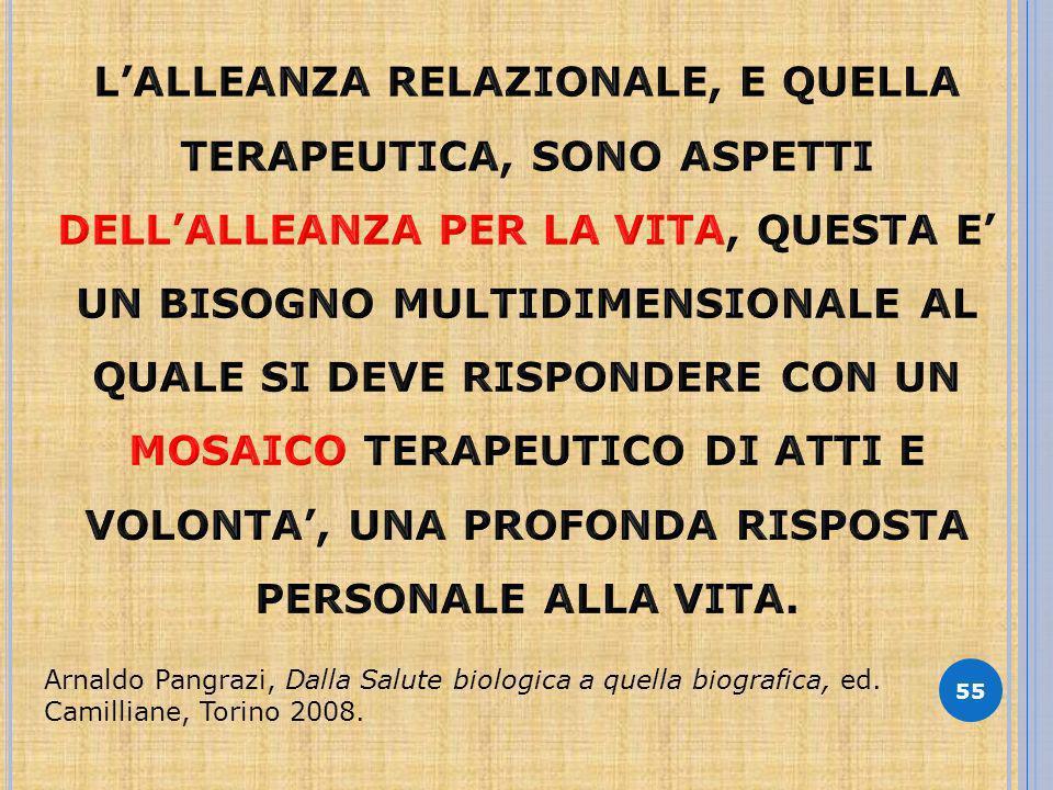55 Arnaldo Pangrazi, Dalla Salute biologica a quella biografica, ed. Camilliane, Torino 2008.