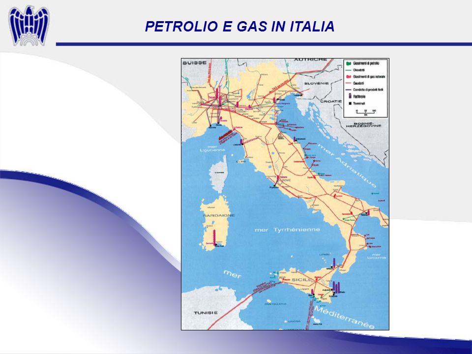 PETROLIO E GAS IN ITALIA Fonte CPDP