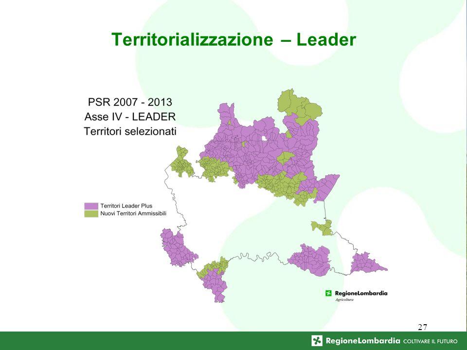 27 Territorializzazione – Leader