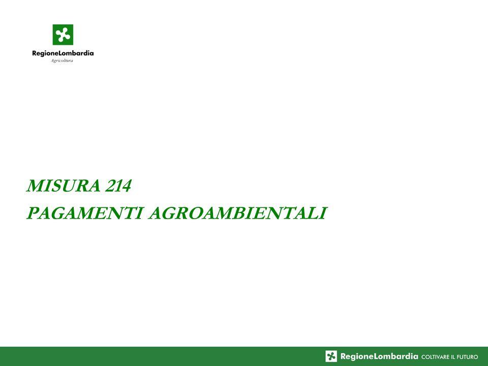 MISURA 214 PAGAMENTI AGROAMBIENTALI
