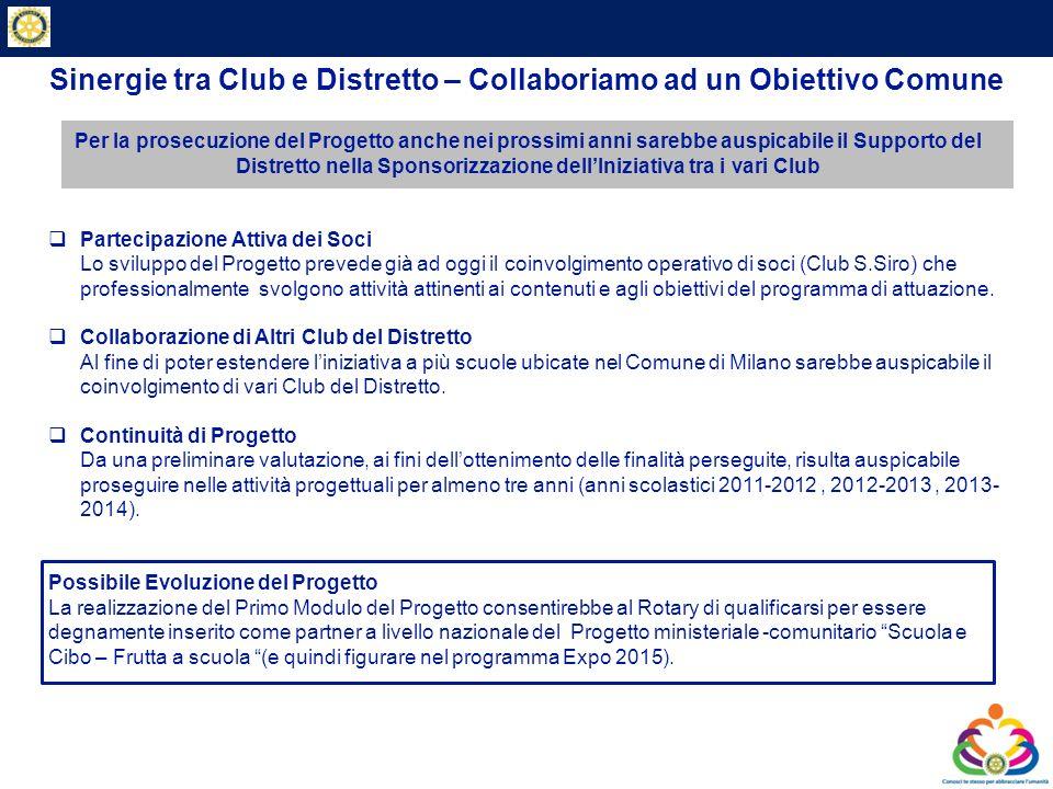 Private & Business Clients Sinergie tra Club e Distretto – Collaboriamo ad un Obiettivo Comune Per la prosecuzione del Progetto anche nei prossimi ann