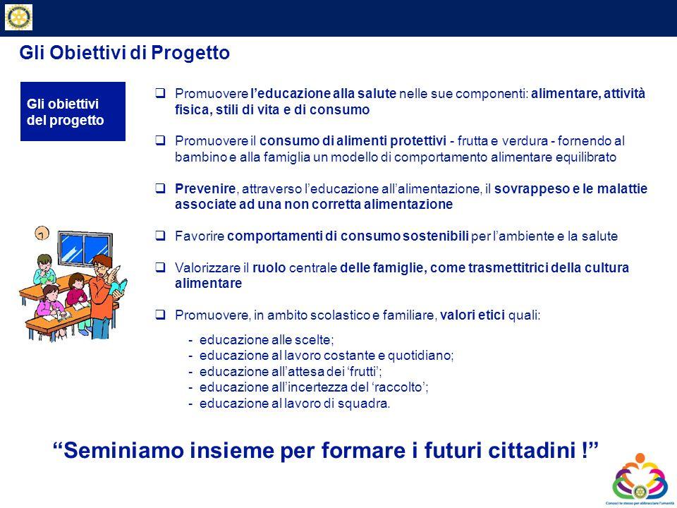 Private & Business Clients Gli Obiettivi di Progetto Seminiamo insieme per formare i futuri cittadini ! Gli obiettivi del progetto Promuovere leducazi
