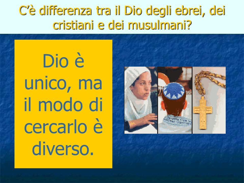 Cè differenza tra il Dio degli ebrei, dei cristiani e dei musulmani? Dio è unico, ma il modo di cercarlo è diverso.