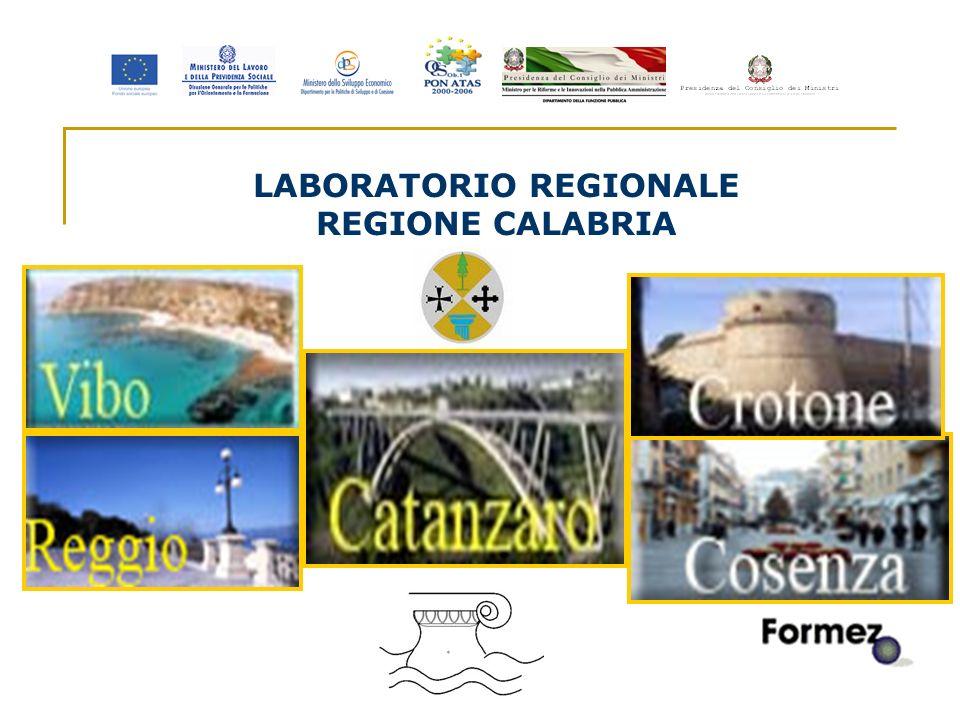 1 LABORATORIO REGIONALE REGIONE CALABRIA